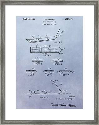 Snowboard Patent Framed Print by Dan Sproul