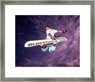 Snowboarder 2 Framed Print by Bruce Stanfield