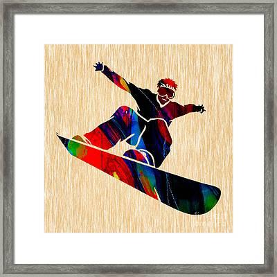 Snowboarding Framed Print by Marvin Blaine
