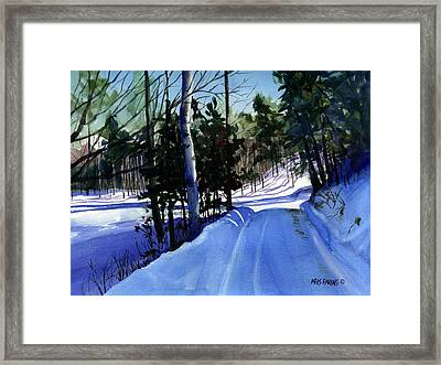 Snowbound Framed Print by Kris Parins