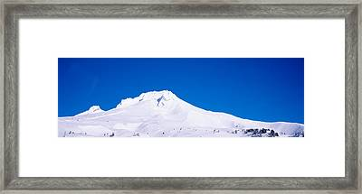 Snowcapped Mountains, Mt Hood, Oregon Framed Print by Panoramic Images
