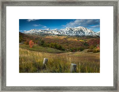 Snowcapped Framed Print by Rory Wallwork