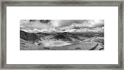 Snowdonia Panorama In Black And White Framed Print by Jane Rix