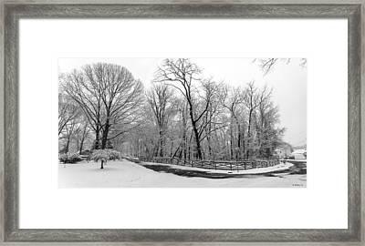 Snowfall Pano Framed Print by Brian Wallace