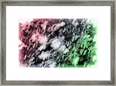 Snowfall - Snowflakes - Christmas Version Framed Print by Steve Ohlsen