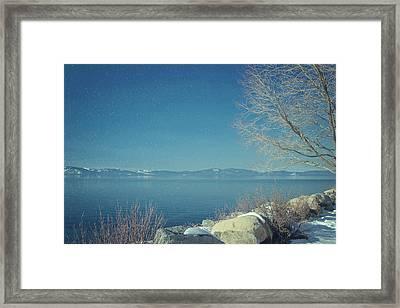 Snowing In Tahoe Framed Print by Kim Hojnacki
