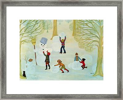Snowmen Framed Print by Ditz