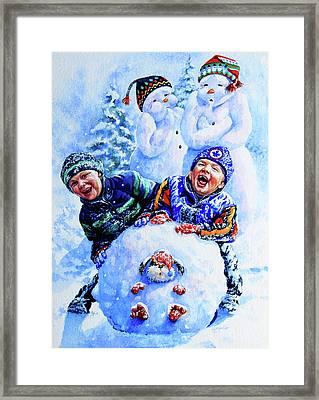 Snowmen Framed Print by Hanne Lore Koehler
