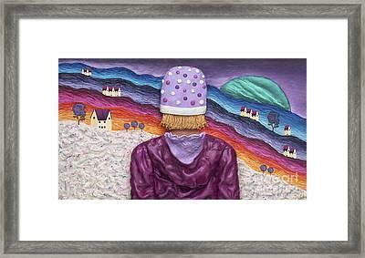Snowscape Framed Print by Anne Klar