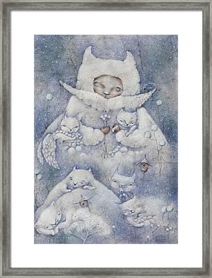 Snowy And Tender Framed Print by Anna Petrova