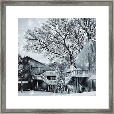 Snowy Day Framed Print by Lourry Legarde