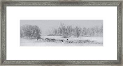 Snowy Fields Framed Print by Michele Steffey