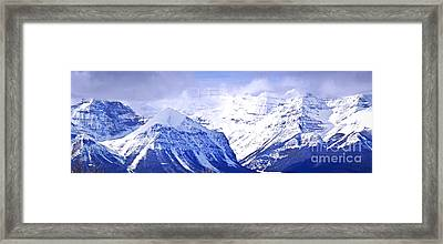Snowy Mountains Framed Print by Elena Elisseeva