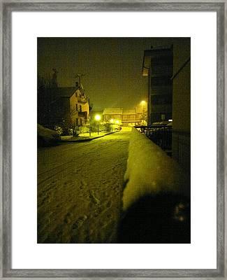 Snowy Night Framed Print by Giuseppe Epifani