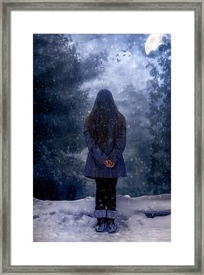 Snowy Night Framed Print by Joana Kruse