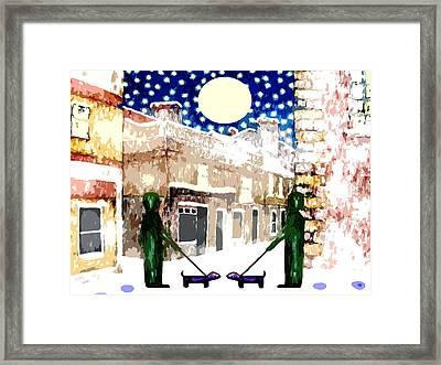 Snowy Night Framed Print by Patrick J Murphy