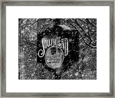 Snowy Southend Framed Print by Robert Yaeger