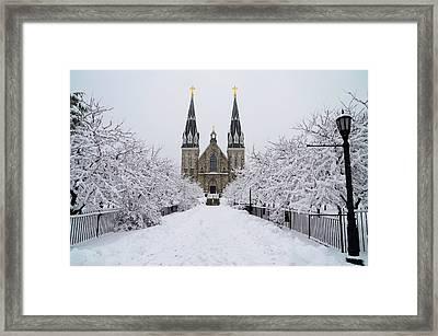 Snowy Villanova Framed Print by Bill Cannon