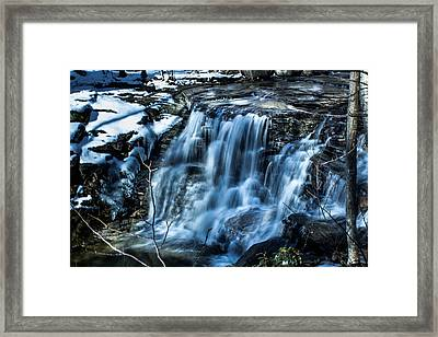 Snowy Waterfall Framed Print by Jahred Allen