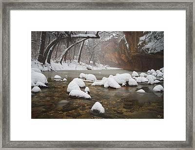 Snowy West Fork Framed Print by Peter Coskun
