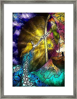 Off To Neverland Framed Print by Mandie Manzano