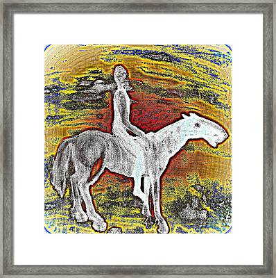 So Far Away And Yet So Close  Framed Print by Hilde Widerberg