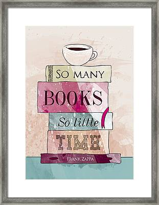 So Many Books Framed Print by Randoms Print