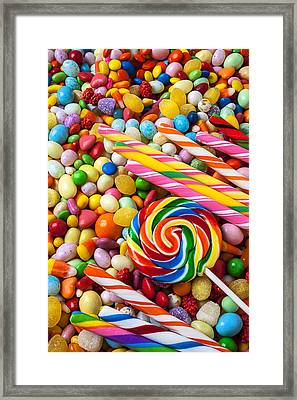 So Much Candy Framed Print by Garry Gay