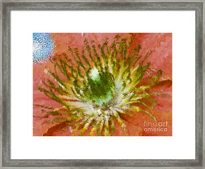So What Green Brown Blue Framed Print by Holley Jacobs