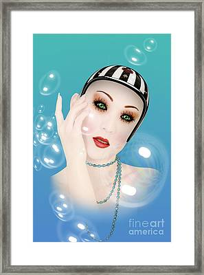 Soap Bubble Woman  Framed Print by Mark Ashkenazi