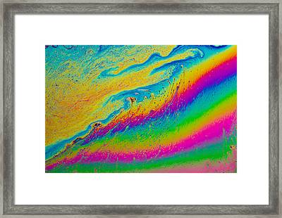 Soap Film Framed Print by Jean Noren
