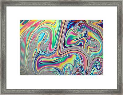 Soap Film Framed Print by Tom Branch
