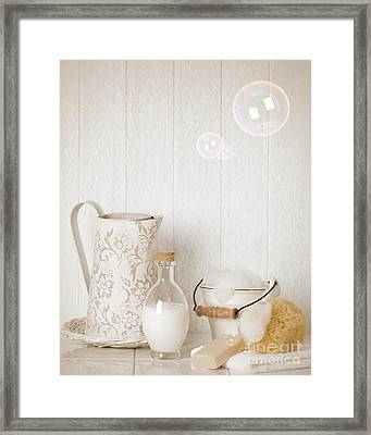 Soap Suds With Bubbles Framed Print by Amanda And Christopher Elwell