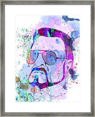 Sobchak Watercolor  Framed Print by Naxart Studio
