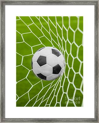 Soccer Ball Framed Print by Anek Suwannaphoom