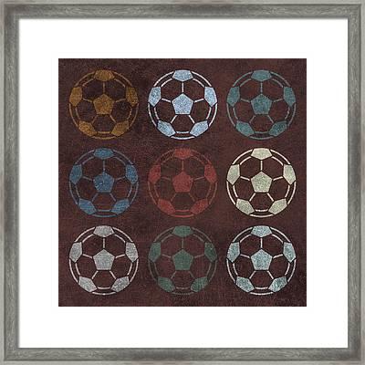 Soccer Balls 9 Framed Print by Flo Karp