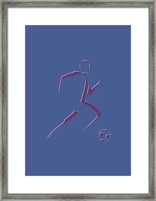 Soccer Player2 Framed Print by Joe Hamilton
