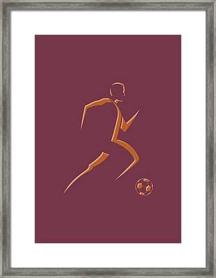 Soccer Player4 Framed Print by Joe Hamilton