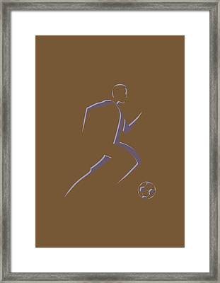 Soccer Player5 Framed Print by Joe Hamilton