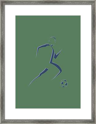 Soccer Player6 Framed Print by Joe Hamilton