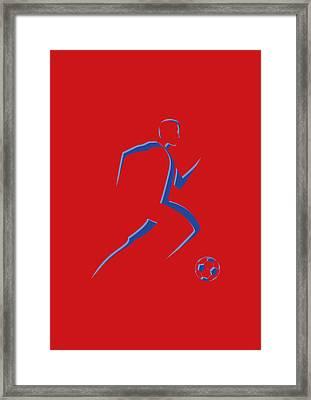 Soccer Player8 Framed Print by Joe Hamilton