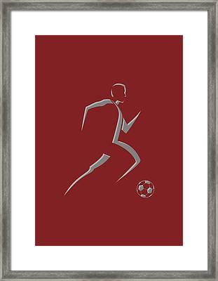 Soccer Player9 Framed Print by Joe Hamilton