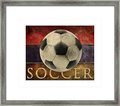 Soccer Poster Framed Print by Craig Tinder