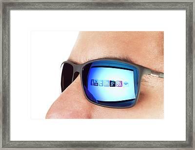 Social Media Framed Print by Daniel Sambraus