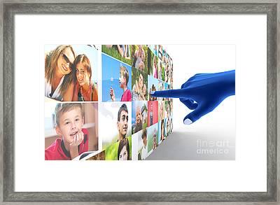 Social Media Network Framed Print by Michal Bednarek