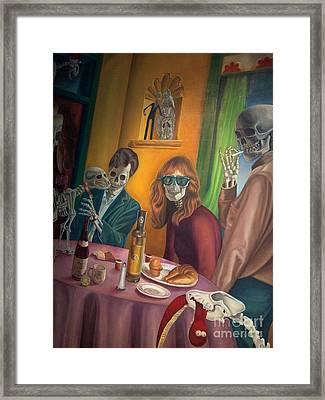 Social Xrays  Framed Print by Maureen J Haldeman