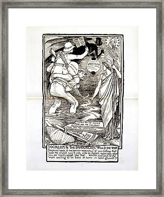 Socialism And Imperialism Framed Print by British Library
