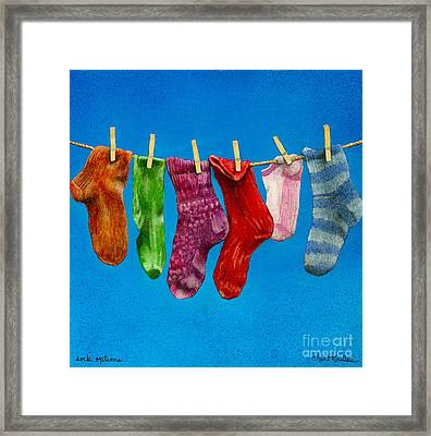 Sock Options... Framed Print by Will Bullas