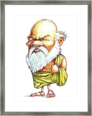 Socrates Framed Print by Gary Brown
