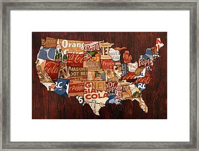 Soda Pop America Framed Print by Design Turnpike